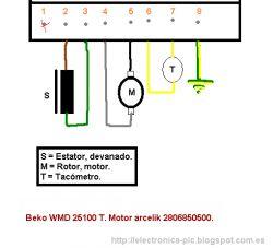 Arcelik 220V 585W 3.1A - Proszę o podpowiedź jaki kondensator do silnika pralki