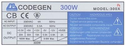 Codegen model: 300X rev. CG-07A padł układ scalony KA7500B i 2SC945