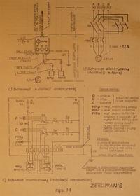 Układ opóźniający-zatrzymujący w automatyczny przełączaniu lewo prawo silnika3-f