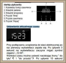 Gorenje MEK512 - Nie można ustawić zegara