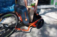 W�zek rowerowy Ridekic z nap�dem elektrycznym i baga�nikiem
