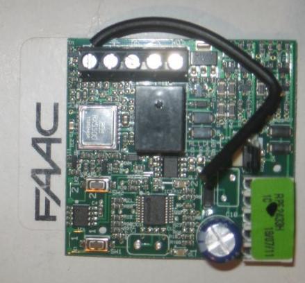 RPE 433 - Opis pin�w w szybkoz��czce do pod��czenia radia Faac