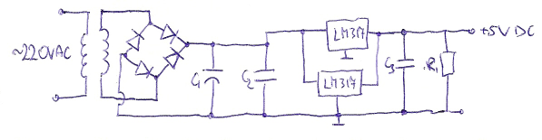 Początkujący elektronik i jego pierwszy projekt zasilacza