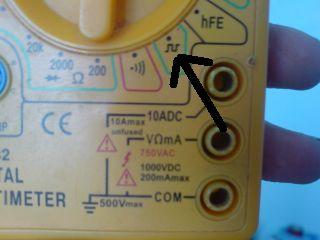 Oznaczenie na mierniku.Co oznacza?