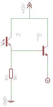 Fototranzystor do sterowania silnikiem