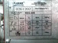 Podłączenie podajnika do regulatora OZAS Reg-400