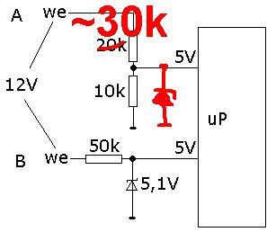 12V -> 5V stan logiczny na procesor