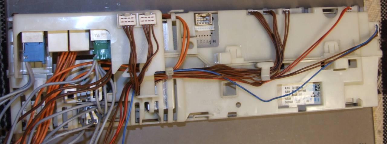 Pralka Bosch WVT1260 potrzebny opis z��cz programatora