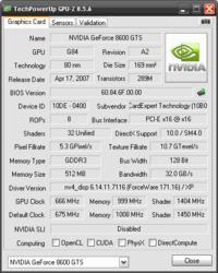 Gainward Geforce 8600 GTS - czyżby przegrzana?