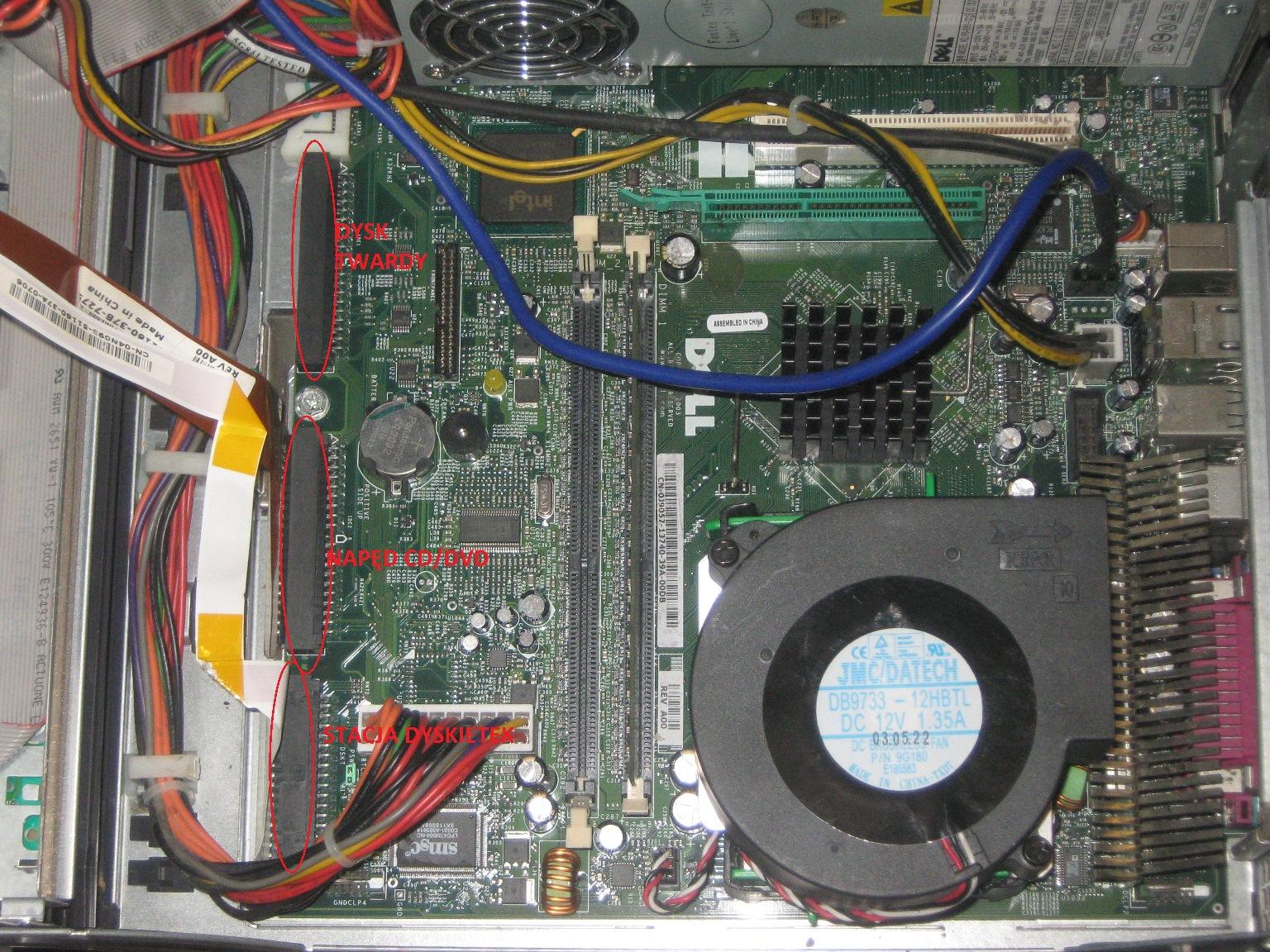 Dell Gx270 po �adowaniu nie widzi dysku