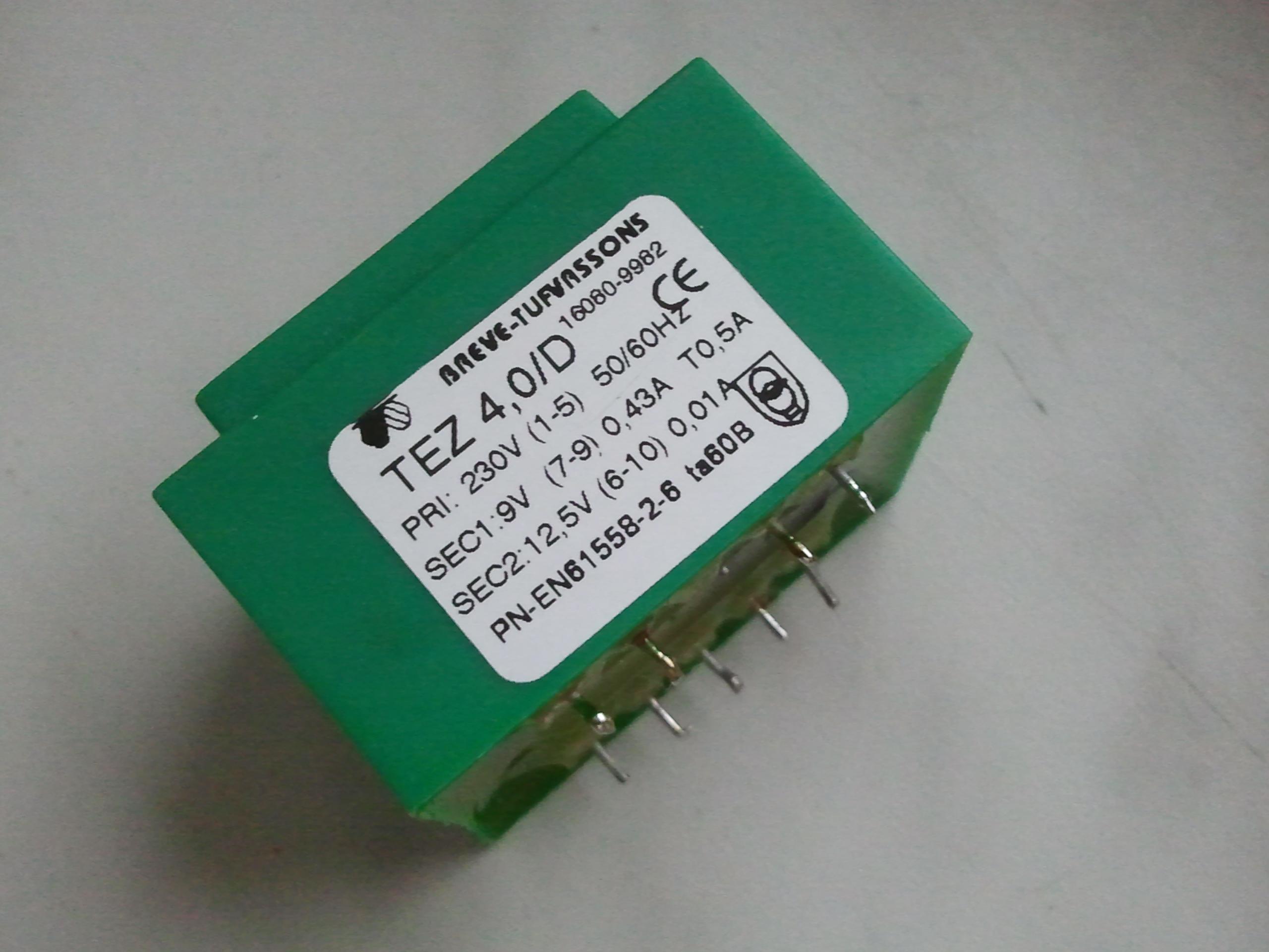 [Sprzedam] Sprzedam transformatory TEZ4/D 4VA 230 v 9V 0,43A z demonta�u- 20 szt