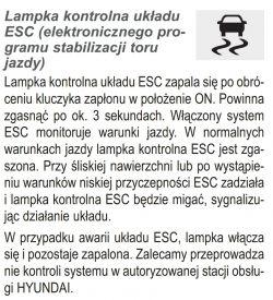 - Hyundai i30 2012 1.4, problem z kontrolką ESC i obrotomierzem