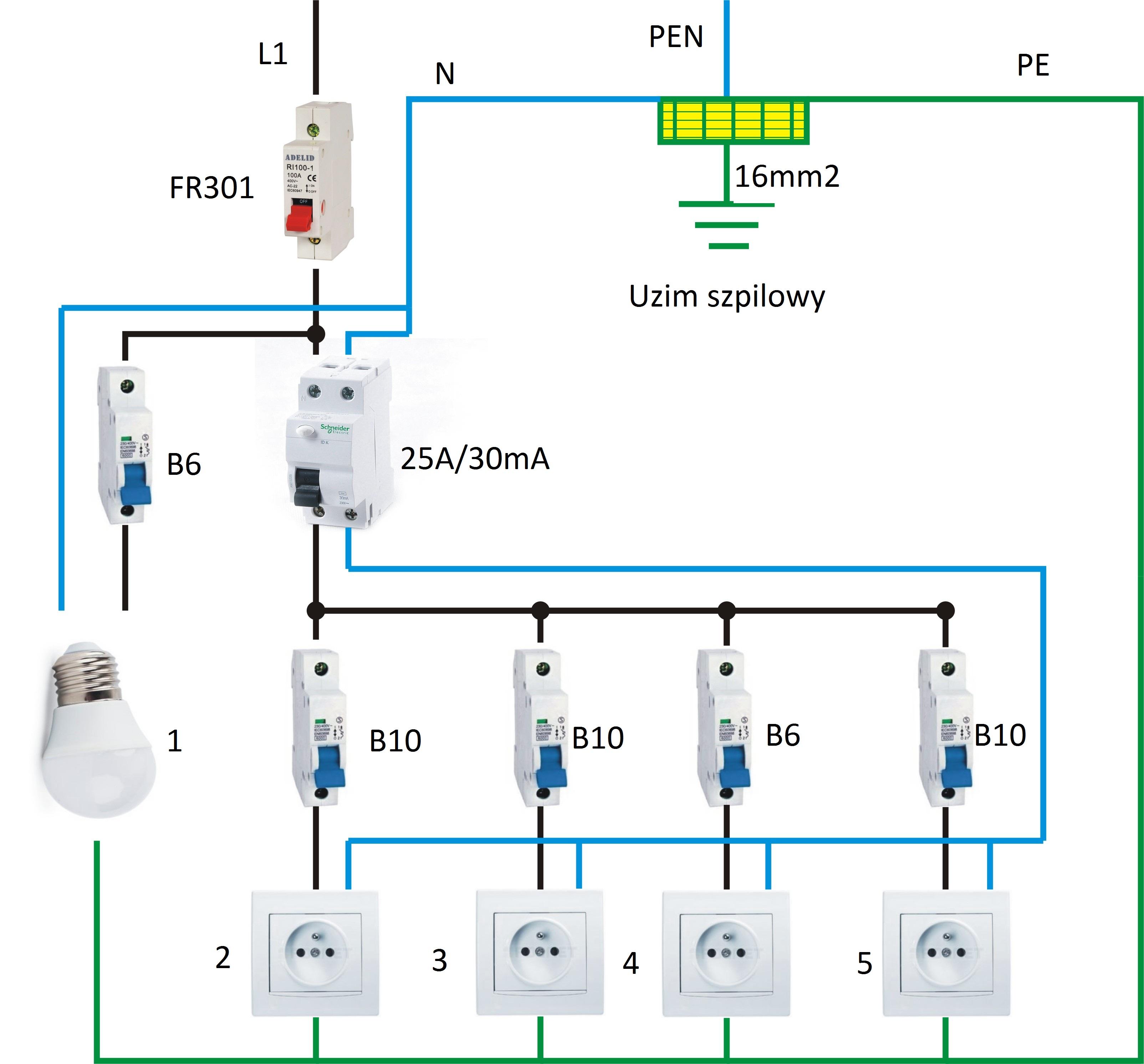 Instalacja elektryczna w kuchni  elektroda pl -> Kuchnia Elektryczna Schemat Podlączenia