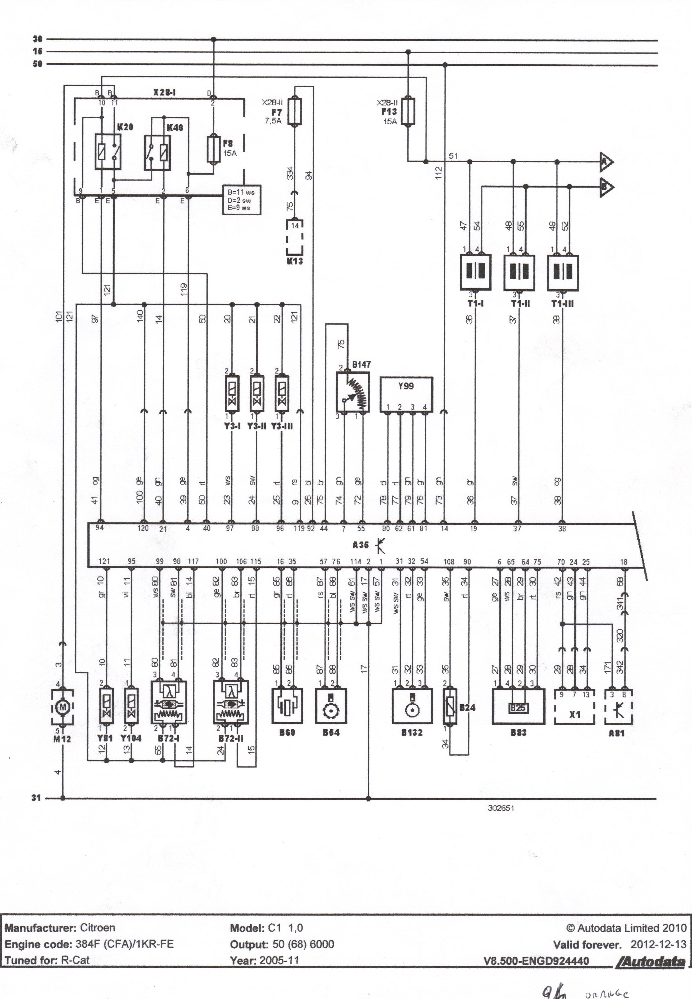 Citroen C1 - Kontrolka Stop. Nie mo�na uruchomi� silnika