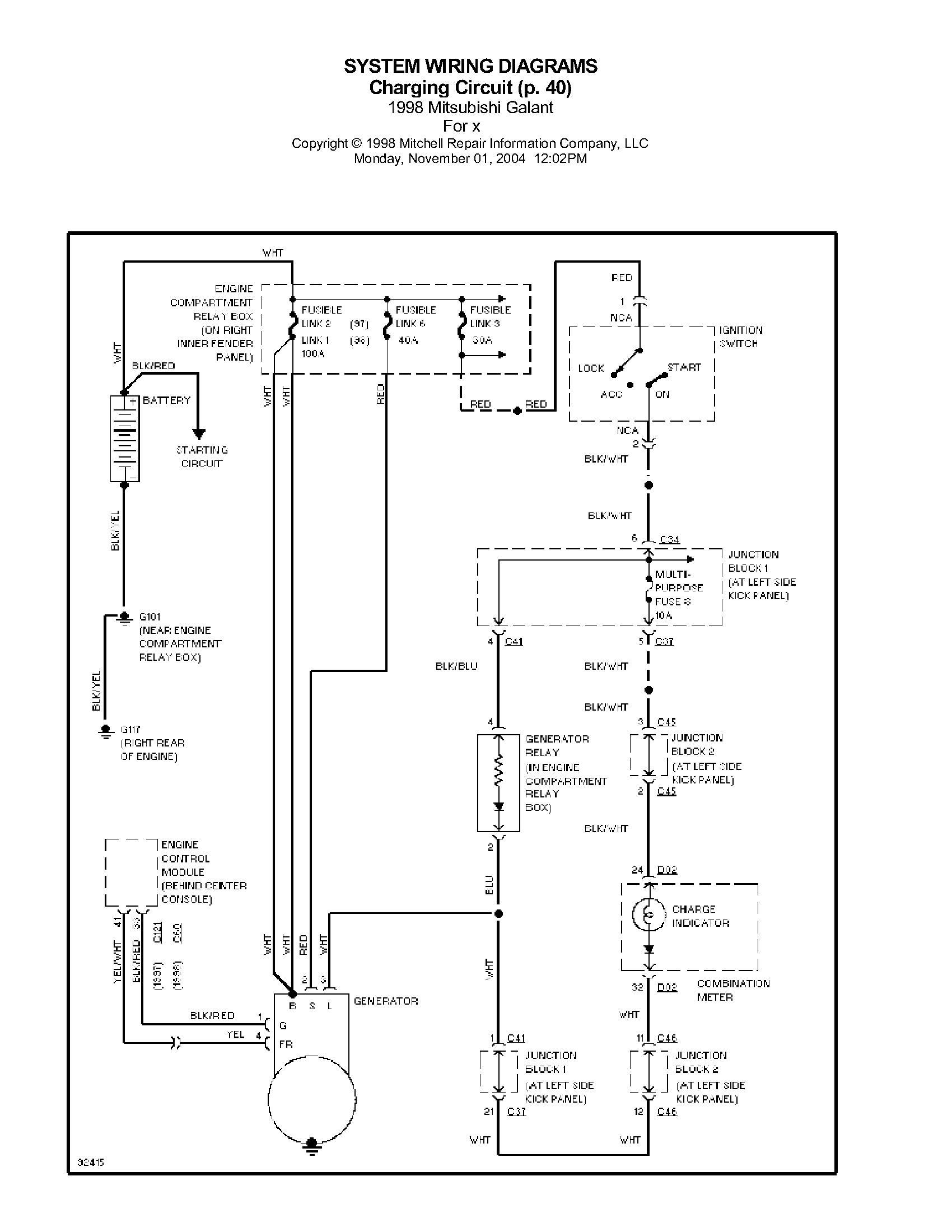 �adowanie Mitsubishi Galant 1999 2.0