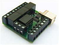 Moduł USB z przekaźnikami oparty o układ MCP2200