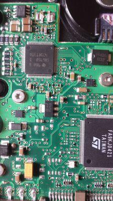 HDD Seagate ST3160023A uszkodzona elektronika