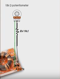Ograniczenie zakresu potencjometru przy pomocy rezystorów