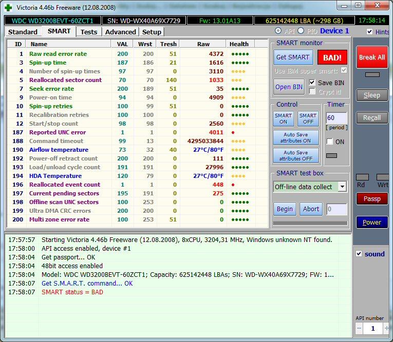 Dysk WD3200BEVT (scorpio blue) z Pavilion dv6-1210ew - pro�ba o opini�