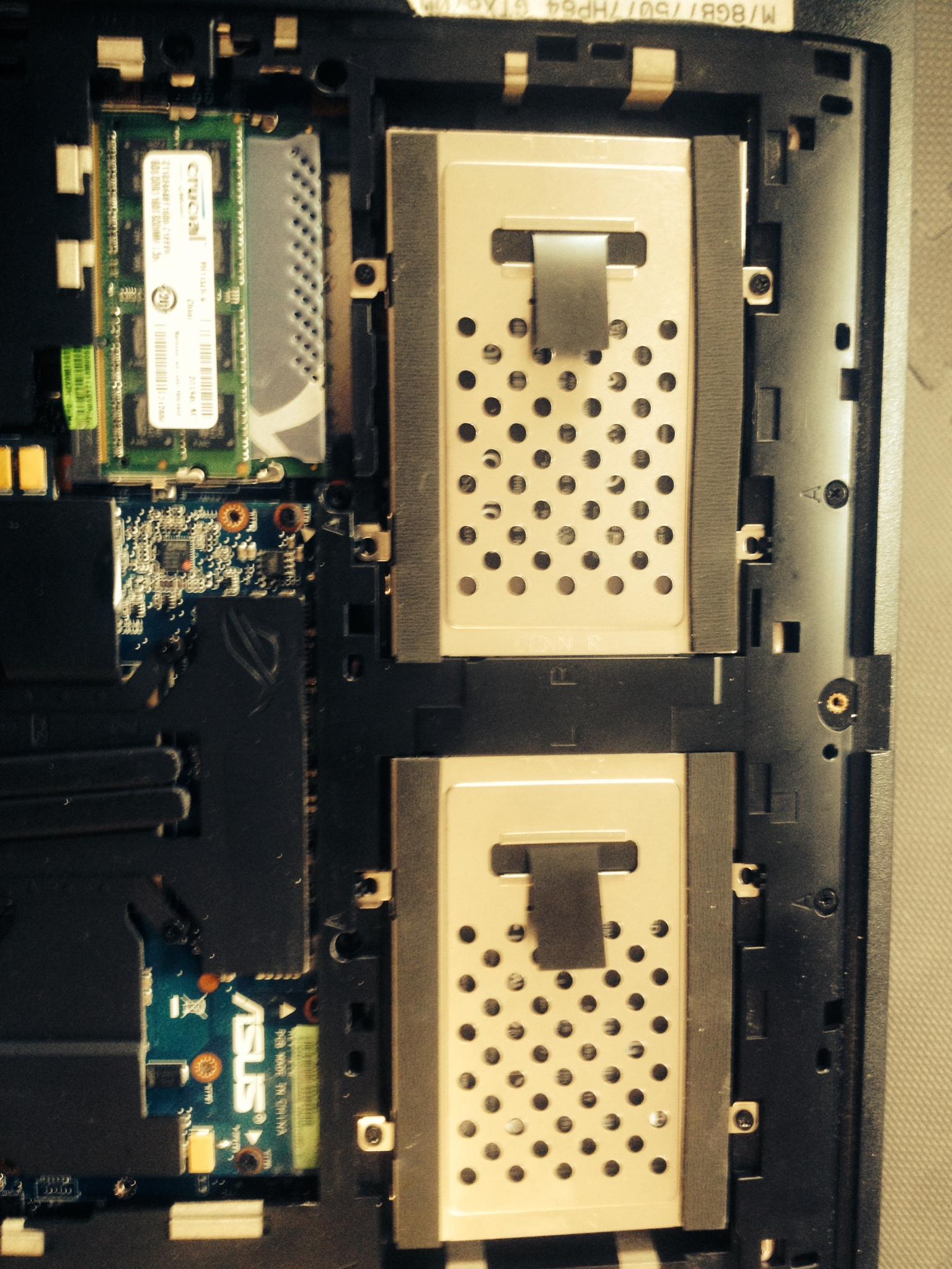 RAID 0 - ASUS G75WV RAID0 HM77 2x SAMSUNG 840 EVO 250GB