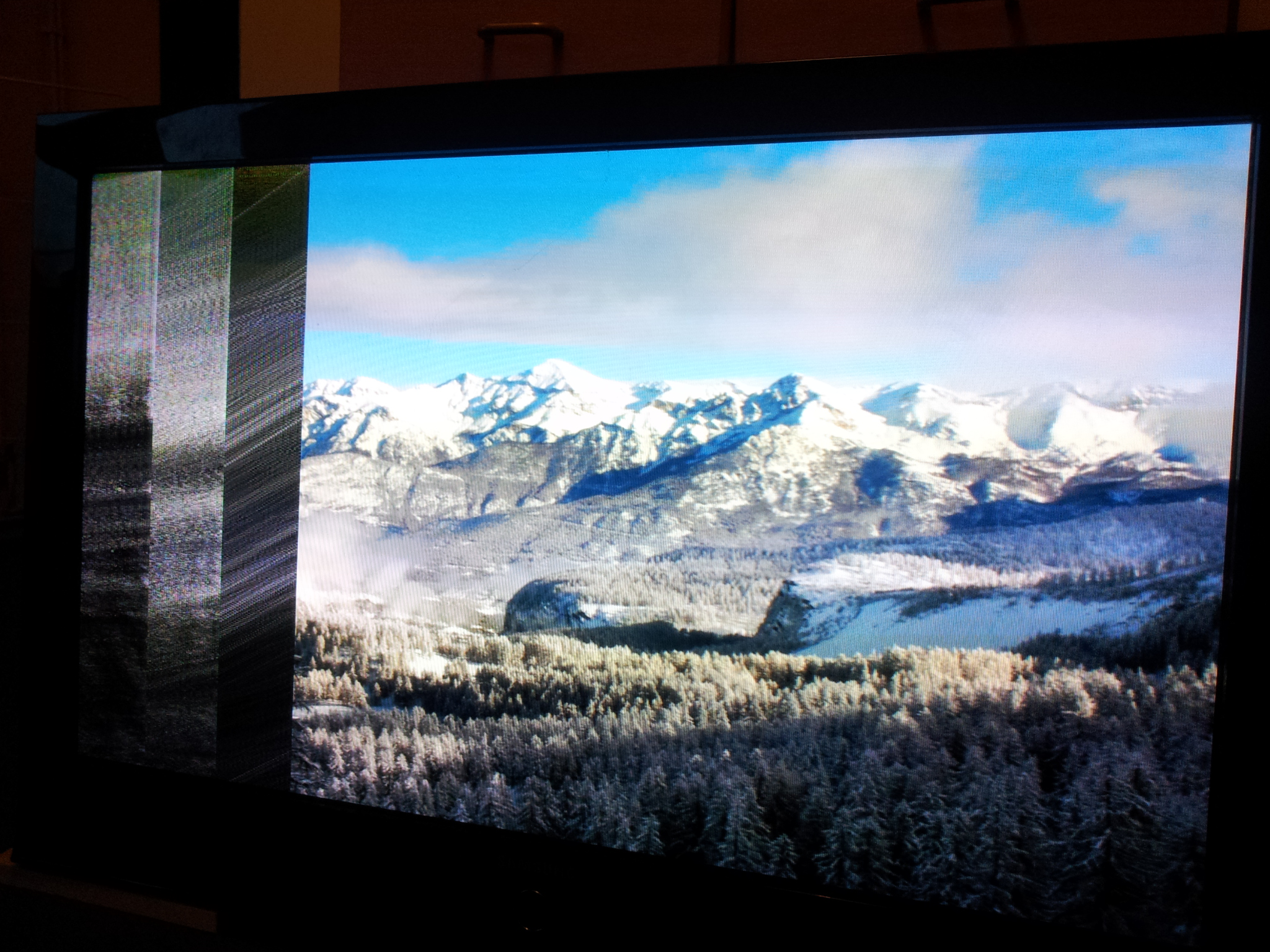 PS42Q97HD - zanika obraz - Zak��cenia na cz�ci obrazu (3 sekcje)