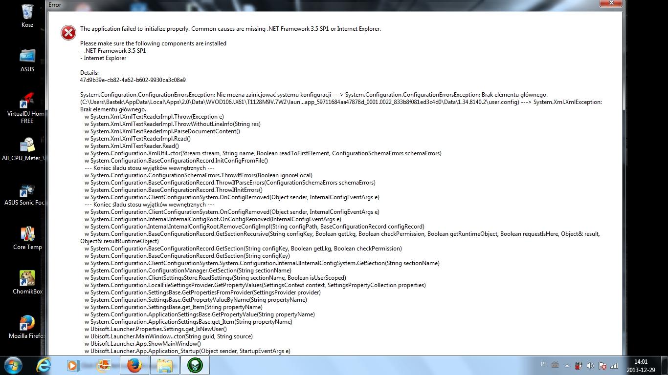 Problem z uruchomieniem gry-Net Framework 3.5 sp1