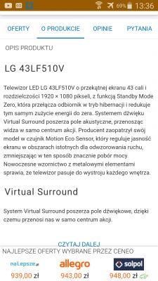 Tv lg 43 - Czy to prawda co piszą o zużyciu energii