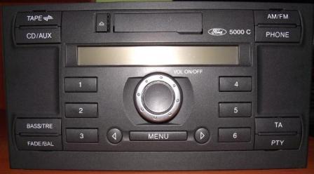 """Ford 5000 C - Wymiana radia ford 5000 cd na nowsze """"okr�g�e"""""""
