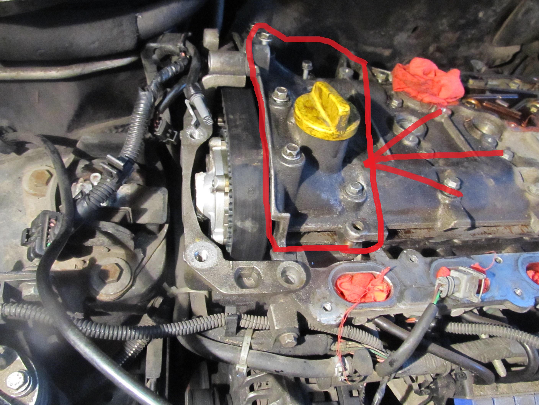Renault Scenic 2.0 16.v Benzyn - jak zdj�� pokryw� wa�k�w rozrz�du