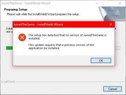 Starsza gra Juiced - Do uruchomienia jej max 2GB RAM - taki błąd gry.