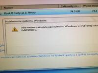 Problem - Sterownik pamięci masowej przy instalacji systemu