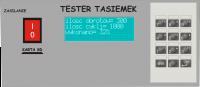 Tester taśm przewodzących + miernik niskich rezystancji.