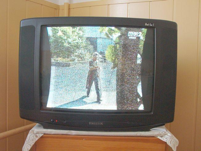 TRILUX po burzy ciemne zakola po bokach ekranu