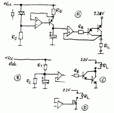 Powolne zwiększanie napięcia od 0 do 2,5.V.