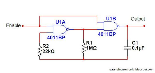 Generator prostok�tny na bramkach NAND