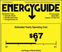 Informacja o rocznych kosztach za prąd obowiązkowo na każdym TV