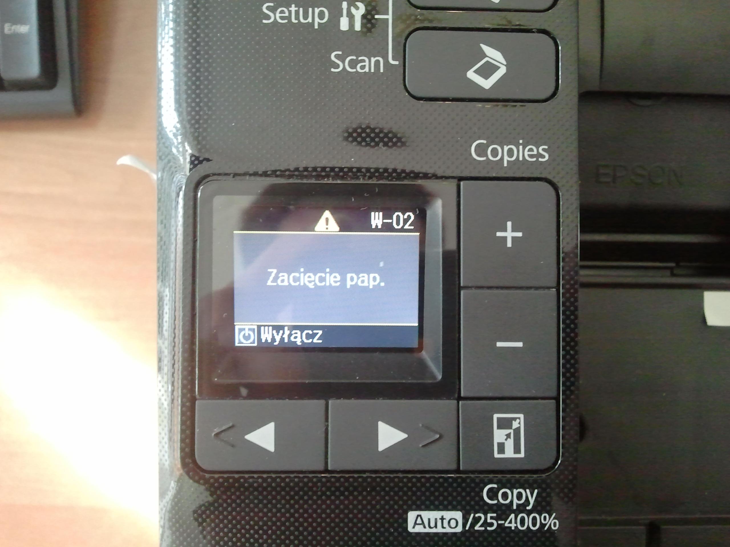 EPSON SX218 pojemnik na tusze. Awaria