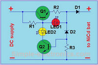 Schemat ładowarki 8.4V NiMH z sygnalizującą diodą LED