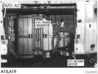 Hyundai Santa Fe I 2001-2005, uszkodzony tranzystor wentylatora klimatronic.