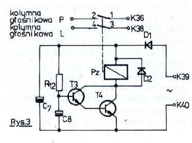 Unitra Amator 2 - układ cichego załączania