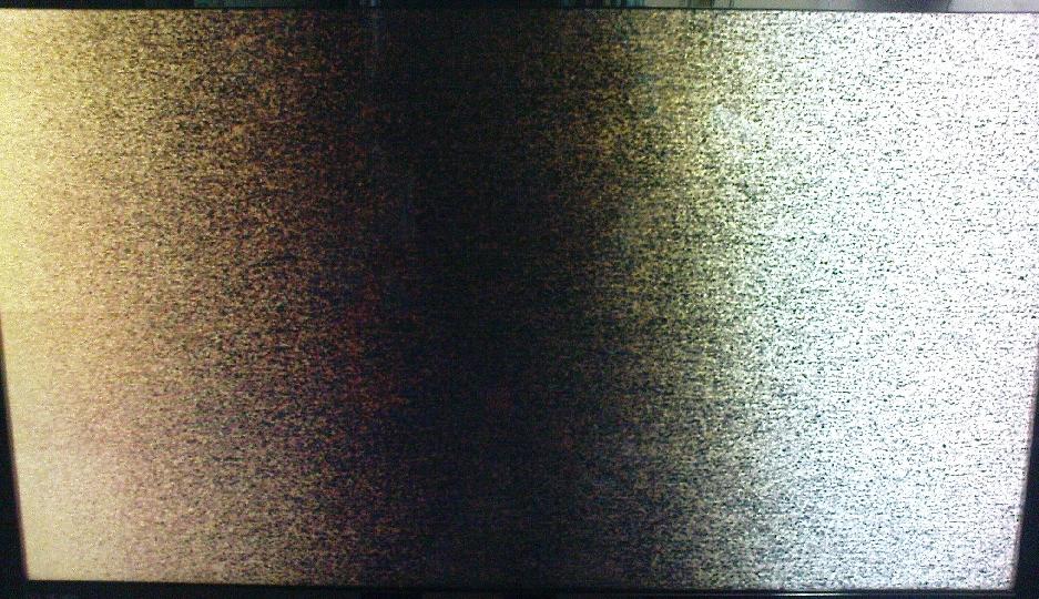 LCD Samsung LE40A656A1F plamy na ekranie.