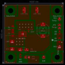 Fahrradlampe 3W [MAX16832] - Stromversorgung bis 60 V