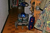 W�zek (skuter) inwalidzki - migaj�ca czerwona dioda.