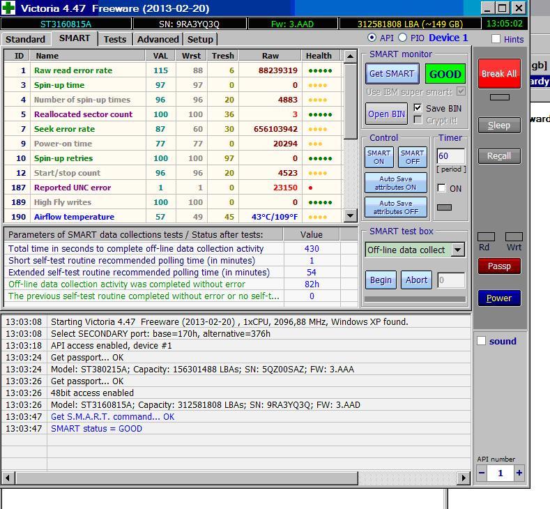 Seagate barracuda ST3160815A  - Jak odzyska� windows XP po awarii dysku twardego