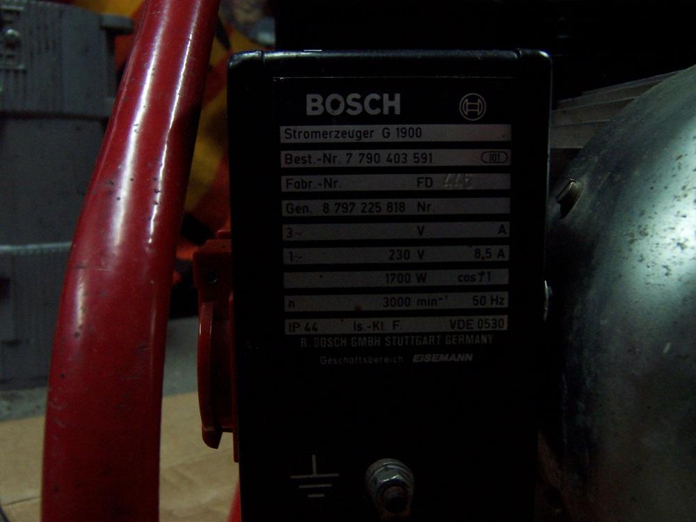 Agregat pr�dotw�rczy - poszukiwane instrukcji obs�ugi BOSCH G1900 -1,9 KW