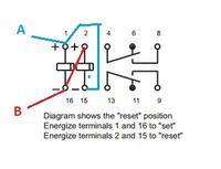 Przekaźnik bistabilny dwucewkowy