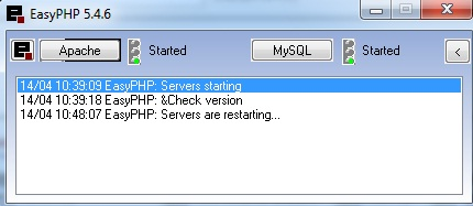 EasyPHP - symulator serwera PHP nie dzia�a