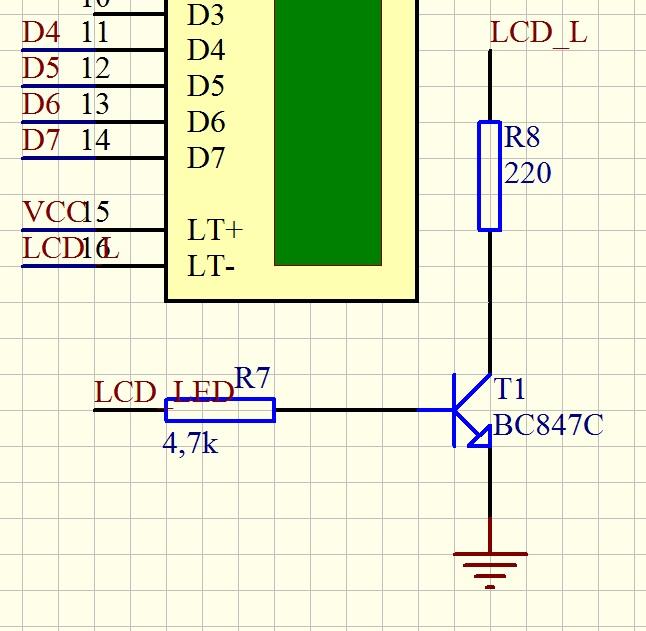 AVR - Schemat pod��czenia Atmegi8 , Klawiatury 4x4 , wy�wietlacza LCD
