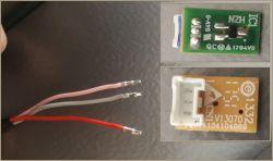 Haier E3FE742CMJ - podłączenie czujnika zamykania drzwi