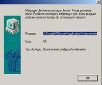 Windows XP / Chrome - Aplikacja żąda dostępu do elementu chronionego